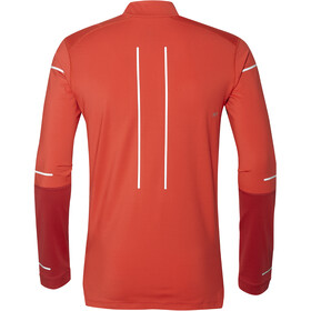 asics Lite-Show Winter LS 1/2 Zip Top Herren red alert/samba
